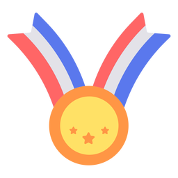 Medalla de graduación plana