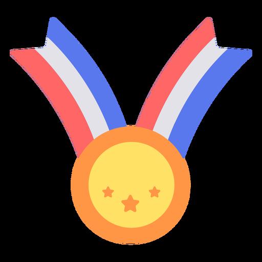 Medalha de graduação plana