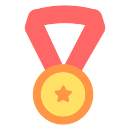 Graduation medal star flat
