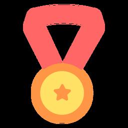 Medalla de graduación estrella plana