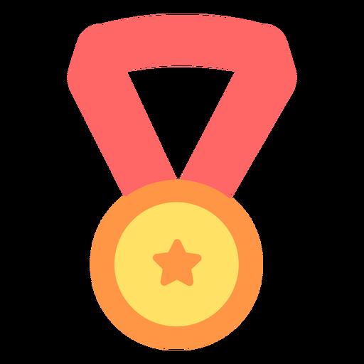 Medalha de graduação estrela plana