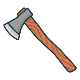 Lumberjack axe icon axe
