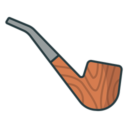 Lumberjack wooden pipe icon pipe