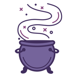 Icono de caldero mágico