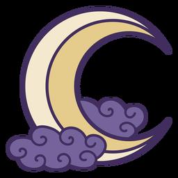 Icono de luna creciente mágica