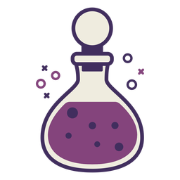 Magic potion bottle icon