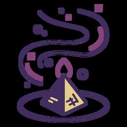 Magic pyramid icon