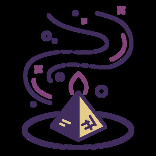 Icono de pirámide mágica