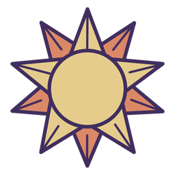 Magic sun icon