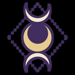 Magic triple moon goddess icon