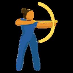 Pictograma de deporte olímpico tiro con arco plano