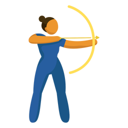Plano de tiro con arco de pictograma de deporte olímpico