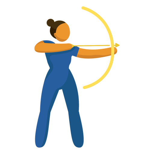 Pictograma de deporte olímpico tiro con arco plano Transparent PNG