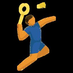 Olympic sport pictogram badminton flat