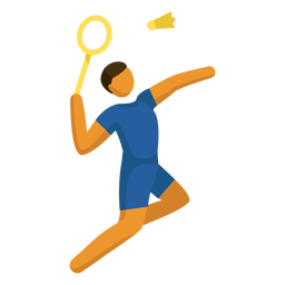 Pictograma de deporte olímpico bádminton plano