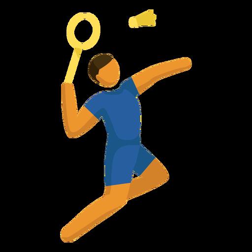 Pictograma de deporte olímpico bádminton plano Transparent PNG