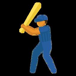Pictograma de deporte olímpico beisbol plano