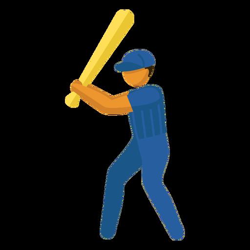 Pictograma de deporte olímpico beisbol plano Transparent PNG
