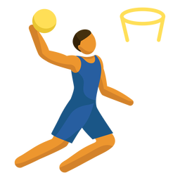 Pictograma de deporte olímpico baloncesto plano