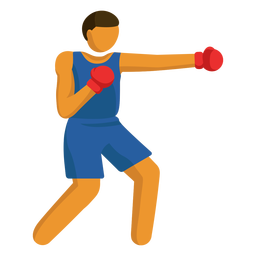 Olympic sport pictogram boxing flat