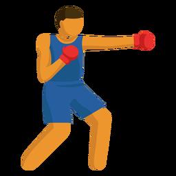 Pictograma de deporte olímpico plano de boxeo