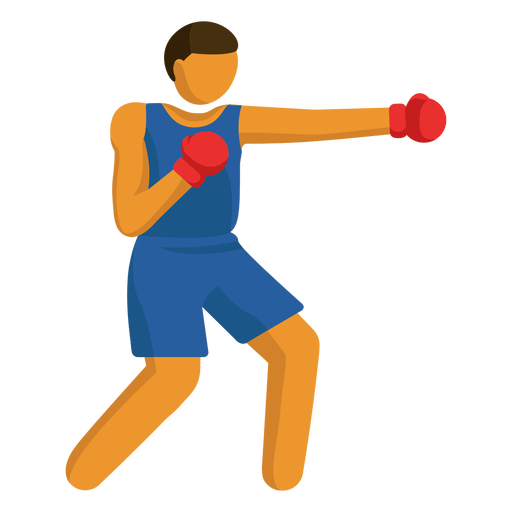 Olympic sport pictogram boxing flat