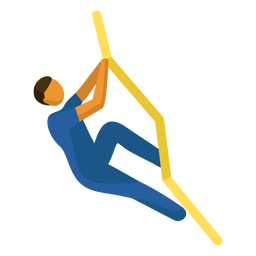 Pictograma de deporte olímpico escalada plana