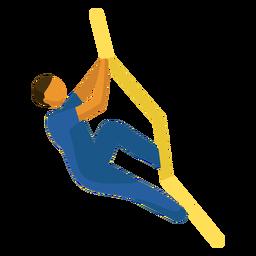 Pictograma de esporte olímpico subindo plana