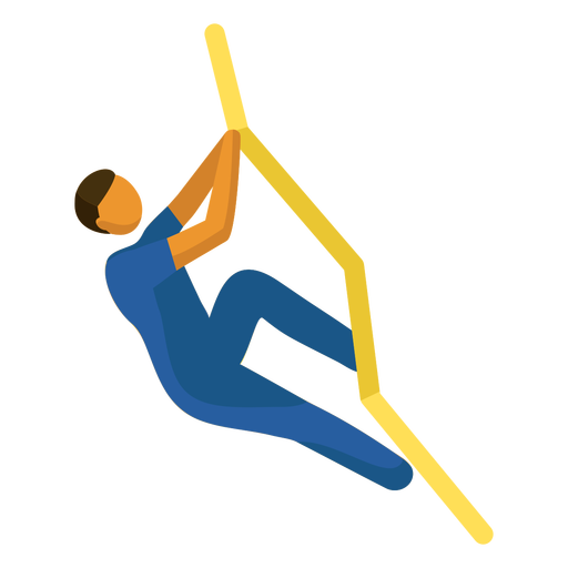 Olympic sport pictogram climbing flat