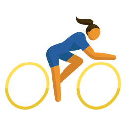 Olympic sport pictogram cycling flat