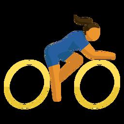 Pictograma de deporte olímpico ciclismo plano