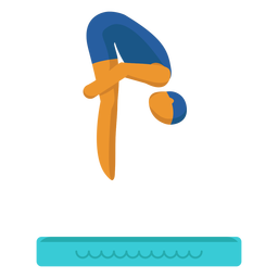 Olympic sport pictogram diving flat