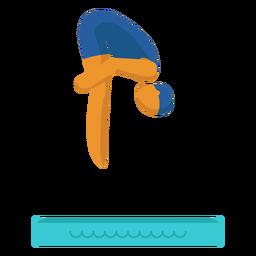 Pictograma de deporte olímpico buceo plano