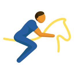 Esporte olímpico pictograma equestre plana