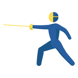Olympic sport pictogram fencing flat