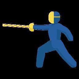Pictograma de esporte olímpico esgrima plana