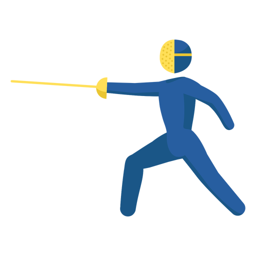 Olympic sport pictogram fencing flat Transparent PNG