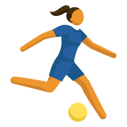 Olympic sport pictogram football flat