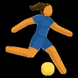 Pictograma de deporte olímpico fútbol plano