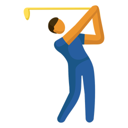 Olympic sport pictogram golfing flat