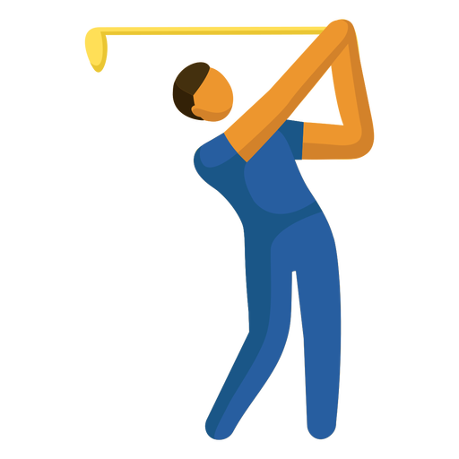 Olympic sport pictogram golfing flat