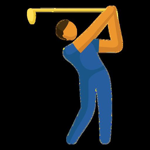 Pictograma de deporte olímpico golf plano Transparent PNG