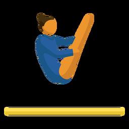 Pictograma de deporte olímpico plano de gimnasia