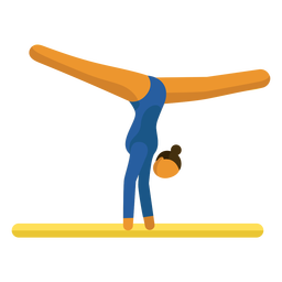 Pictograma de deporte olímpico viga gimnasia plana