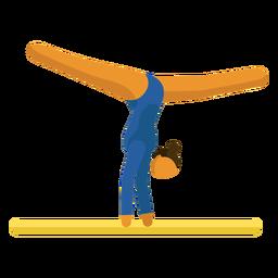Viga de gimnasia de pictograma de deporte olímpico plana