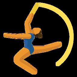 Pictograma de deporte olímpico gimnasia rítmica plana