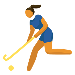 Olympic sport pictogram hockey flat