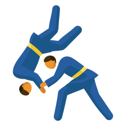 Olympic sport pictogram judo flat
