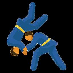 Pictograma de deporte olímpico judo flat