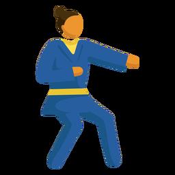 Pictograma de deporte olímpico karate plano